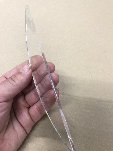 Plexiglas lasersnijden resultaat