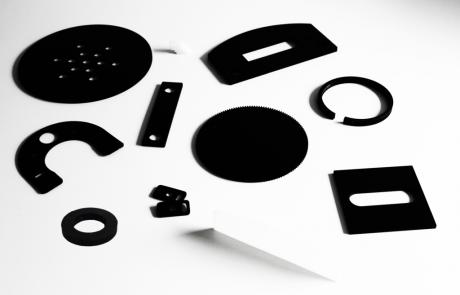 HDPE diverse onderdelen en kleuren lasersnijden