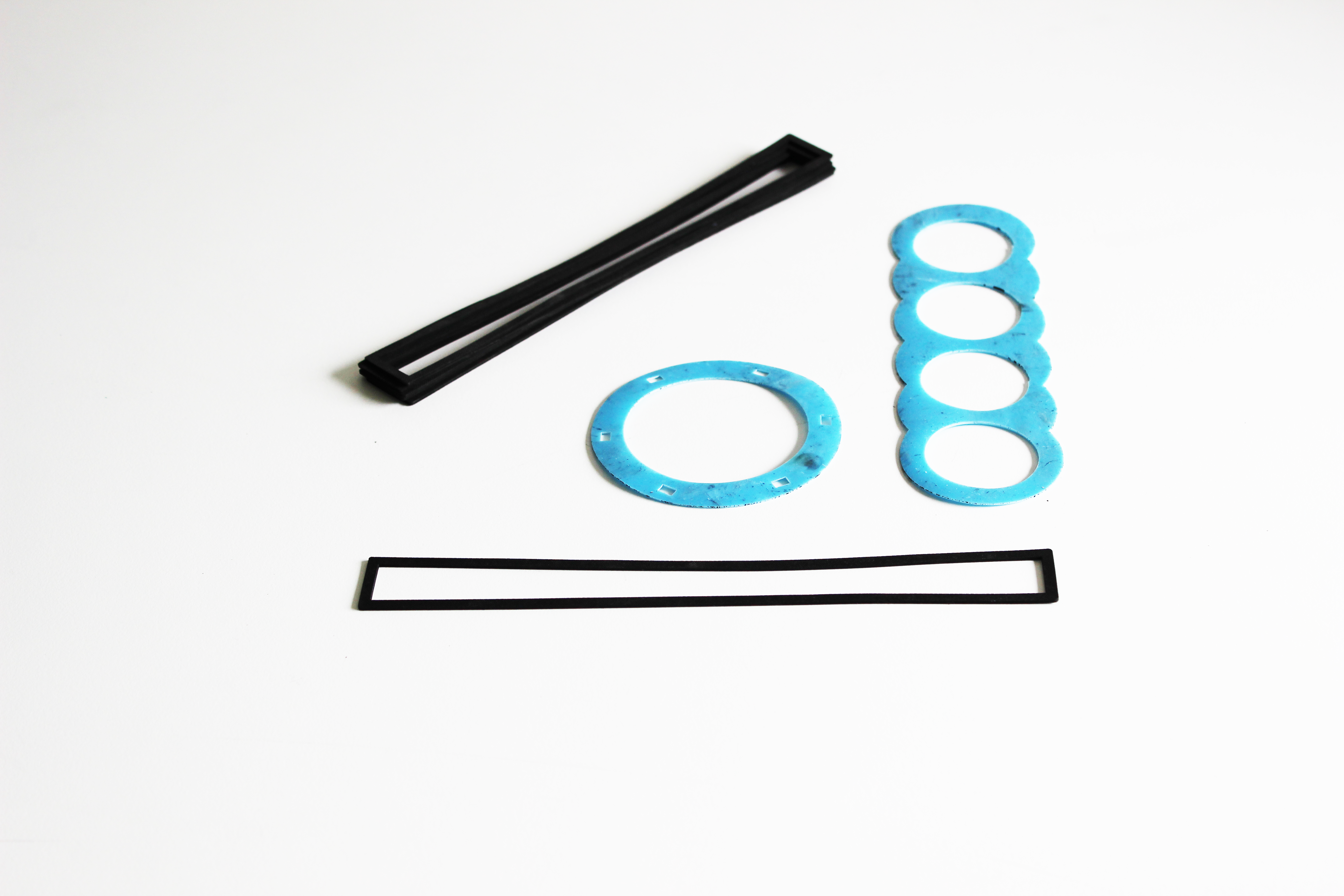 Verschillende soorten rubber pakkingen
