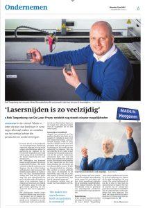 De Laser Frezer in de Krant